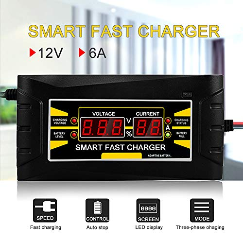 For Sale! DZAER 6A/10A Car Battery Charger Full Automatic 150V-250V to 12V Smart Fast Power Charging...