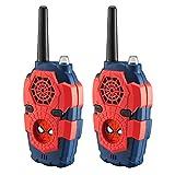 Walkie Talkie para niños Spider Man Fuera de casa con Luces y Sonidos, fácil de Usar para niños para Aventuras al Aire Libre en Interiores