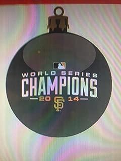 MLB San Francisco Giants 2014 World Series Champions Glass Ball Ornament, Black