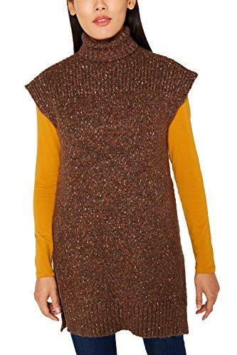 ESPRIT Damen 109EE1I086 Pullunder, Braun (Toffee 225), Medium (Herstellergröße: M)