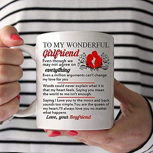 N\A Valentine To My Wonderful Girlfriend Mug - Taza de café