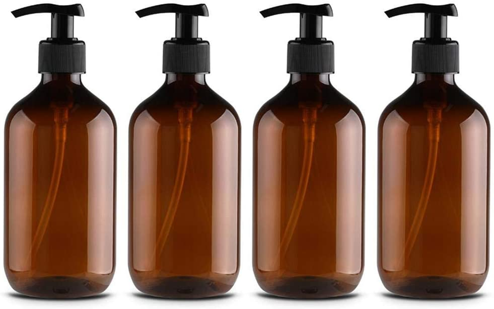 Leikance Botellas dispensadoras de jabón, botellas recargables para dispensar lociones, champús, 500 ml