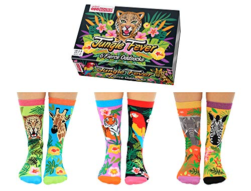 Jungle Fever Dschungel Oddsocks Socken in 37-42 im 6er Set - Strumpf