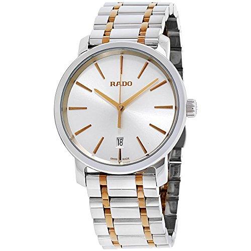 Rado Herren-Armbanduhr 40mm Armband Metall Rosarot Gehäuse Quarz R14078103