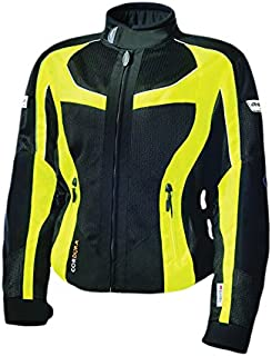 Olympia Moto Sports Women's Switchback 2 Mesh Tech Jacket (Black/Neon Yellow, X-Large)