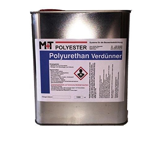 1 Liter POLYURETHAN Verdünnung, Verdünner für PU Grundierung Beschichtung Lack