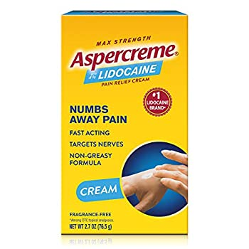Aspercreme Pain Relieving Creme With Lidocaine 2.7 Ounce Pain Relieving Cream Helps Reduce and Numb Pain from Arthritis Backache Muscle Strains and Sprains