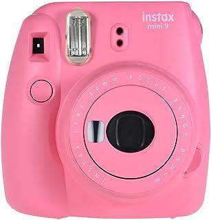 Fujifilm Instax Mini 9 Instant Camera Film Cam with Selfie Mirror, Flamingo Pink