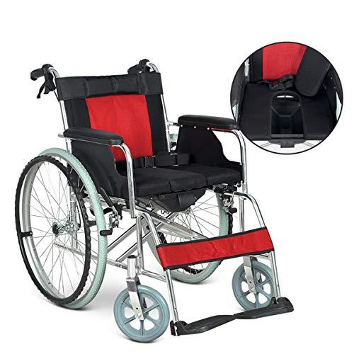 MYYLY Rollstuhl Leichter Faltbarer Aluminiumrollstuhl Mit Selbstantrieb Und 68 cm Extra Breitem Sitz, Tragbarer Rollstuhl for Ältere, Behinderte Und Behinderte Benutzer Rollstühle (Color : B)