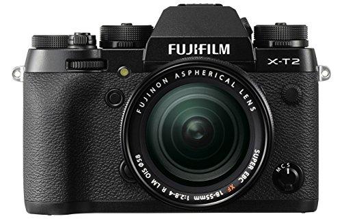 "Fujifilm X-T2 - Cámara sin espejo de 24,3 MP (pantalla LCD de 3"", APS-C""X-Trans CMOS III"", 100-51200, WiFi, video 4K)[Nuevo Firmware 4.0], negro - kit con cuerpo y objetivo XF18-55mm F2.8-4 R LM OIS"