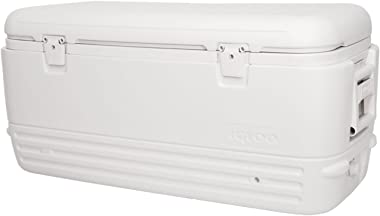 Igloo 120 Quart Polar Extra Large Insulated Portable Ice Chest Beverage Cooler, White,