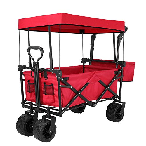 Push and Pull Collapsible Utility Wagon, Heavy...