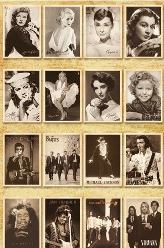Classic movie star Assembly Postcards Retro Nostalgia PostCard Worthy Collecting 32 pcs 1 set Photo #4
