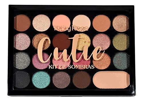 PALETA DE SOMBRAS CUTIE 22 CORES + 1 PRIMER RUBY ROSE HB-1007