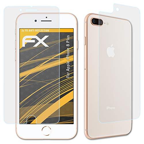 atFolix Panzerfolie kompatibel mit Apple iPhone 8 Plus Schutzfolie, entspiegelnde und stoßdämpfende FX Folie (3er Set)