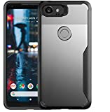 Bounceback ® Robust Series Google Pixel 2 XL Cover Shock Proof Anti Slip Clear Transparent Soft TPU Back Cover Case for Google Pixel 2 XL (Charcoal Black)