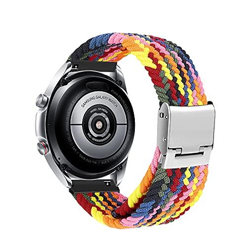 Niboow 20mm Solo Loop Armband Kompatibel mit Samsung Galaxy Watch 4, Ersatzband für Samsung Galaxy Watch 4 Classic/Galaxy Watch Active/Active 2/Galaxy Watch 3 41 mm/Samsung Gear Sport/S2 Classic-bunt