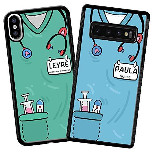 imafan - Funda Personalizada con la Uniforme de Enfermera/Auxiliar de enfermeria/Medico/Doctora/Otros Profesionales Sanitarios - iPhone 11