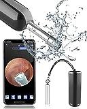 Mini Otoscopio Digital Wifi, OVIFM D10 3,9 mm HD 1080P Camara Endoscopica, Limpieza de Oidos con 8 Puntas de Oreja, Endoscopio Oido Impermeable para Niños/Medico, Adecuada para Iphone/Android/Movil