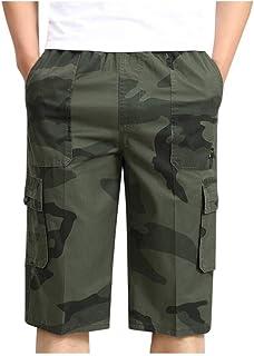 pipigo Men Casual Drawstring Straight Solid Big and Tall Short Pants