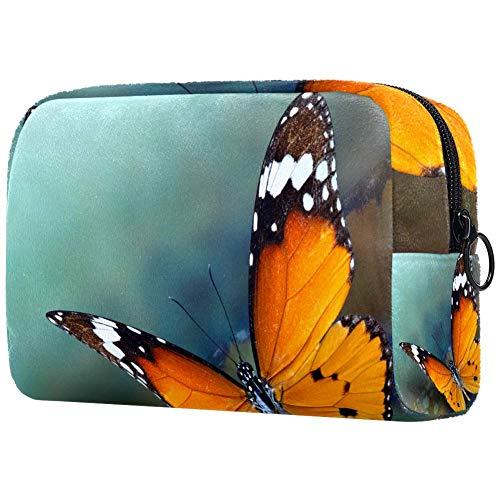 Beau sac de maquillage portable imprimé tigre uni pour femme