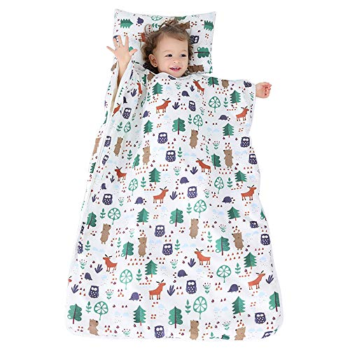 Blanketswarm Tapis de sieste pour enfant avec coussin doux amovible et couverture pour garçons et filles faisant la sieste à la garderie, à la maternelle