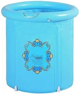 SHYPT Portable Plastic Bathtub, Folding Spa BathTub for Adults, Freestanding Soaking Tub Inflatable