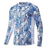 HUK Men's Icon X Camo Hoodie  UPF 50+ Long-Sleeve Fishing Shirt, Ice Boat, XL