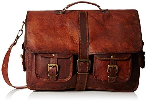 "True Grit Leather- ""blairzy in pelle a tracolla Messenger borsa a tracolla borsa Crossover marrone Brown 18 Inch (45.72 CM)"