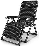 JUUY Sillón reclinable portátil para jardín, tumbonas, silla plegable, silla para balcón, almuerzo, silla de oficina