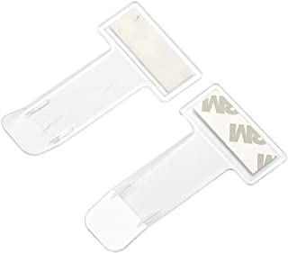 Car Windscreen Parking Ticket Card Clip Clear Permit Holder 3M Sticker Windscreen Portable Clip Mini Practical Fasteners