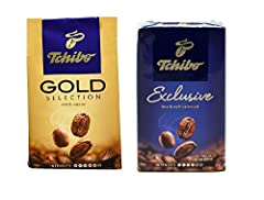 Pack of 2 (1 Tchibo Exclusive Coffee And 1 Gold Selection Ground Coffee) This is Germany's best selling ground coffee, similar to US Starbuck Imported from Germany Perfect for everyday coffee enjoyment Great with desserts or anytime you'd like to sit...