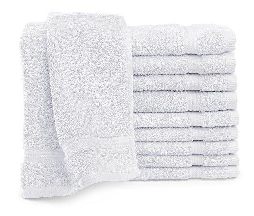 Traumhaft Schlafen - Castell – Markenbettwäsche 0100144 Frottier Gästetuch (Baumwolle) 10x 30x50 cm weiß