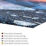 Poster 60 x 40 cm: Abends am Meer mit Buhnen – Schwarzweiss von Frank Herrmann – hochwertiger Kunstdruck, neues Kunstposter - 2