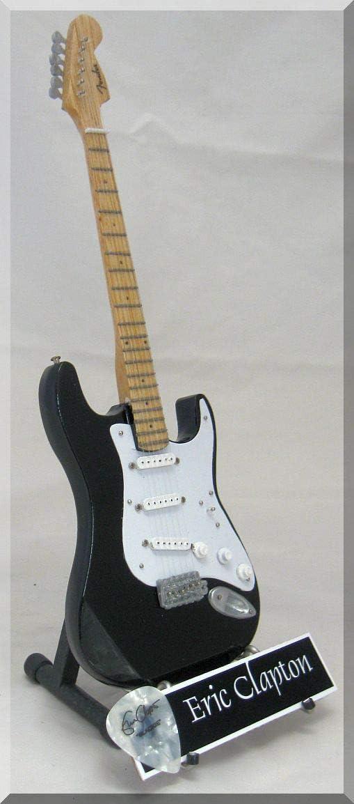 ERIC Clapton - Guitarra en miniatura con púa de guitarra