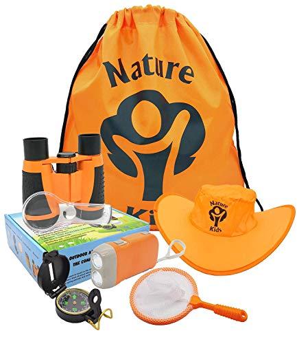 Adventure Kids - Outdoor Explorer Kit, Children Binoculars, Flashlight, Compass,...