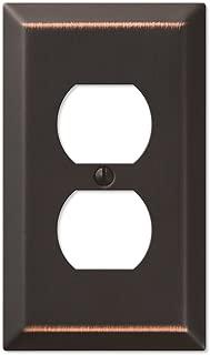 Oil Rubbed Bronze - Traditional Design Single Duplex Wall Plate