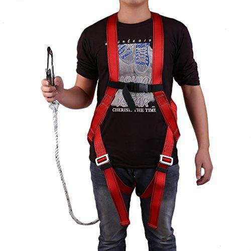 Absturzsicherung, Fallschutz-Set, Auffanggurt Sicherheitsgurt Dachdecker, Sicherungsseil Klettern(1,5M Seil/300kg Tragfähigkeit)
