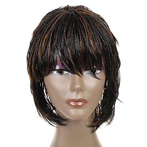 "Synthetic Small Box Braided Wigs African American Bob Braid Wigs for Black Women 12"" (#1B/27)"