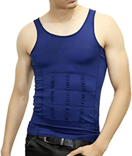 PlayCool Mens Slimming Body Shaper Vest Shirt Abs Abdomen Slim, Compression Muscle Tank