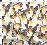 Pinguin, Wasserfarben, Antarktis, Menge, König Stoffe -