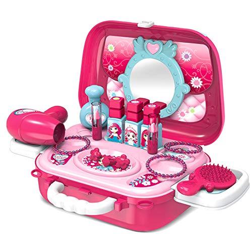 Buyger Maletin Maquillaje Niñas Estuche Belleza Joyería Peluqueria Kit Juguete Accesorios Regalo...
