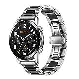 TRUMiRR Compatible ave Huawei Watch GT 2 46mm Bande de Montre, 22mm Bracelet de Montre en céramique Tous Les Liens Bracelet...