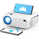 WiFi Bluetooth Projector, Upgraded 3Stone Native 720P Mini Projector for Outdoor Movies with Dual 5W Stereo Speakers, 200' Display, Backlit Buttons, Support 1080P Compatible with TV Sticks