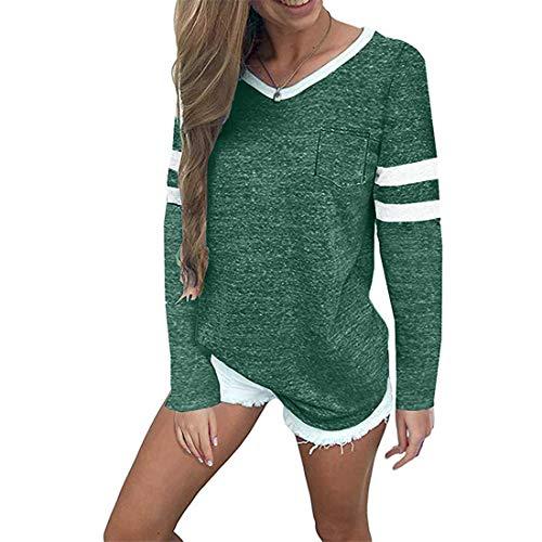 Tops Damen T Shirt Damen Elegant Casual Mode Sexy Rundhals Lange Damen T-Shirt Herbst...