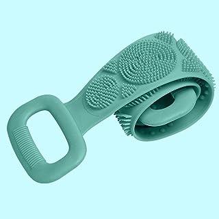 اكسسوارات الاستحمام NYKK منشفة فرك من السيليكون للرجال والنساء لفرك الظهر والطين وفرش الجسم (اللون: أخضر، الحجم: 1 حزمة)