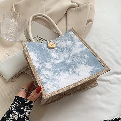 Borsa per la spesa in lino da donna,borsa per la spesa ecologica,borsa riutilizzabile in juta di iuta,utilizzata per negozi di alimentari,shopping,spiagge,viaggi,adatta per la vita quotidiana,rosa