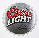 2BUT Coors Light Decorative Bottle Caps Metal Tin Signs Cafe Beer Bar Decoration Plat 13.8'Inches Wall Art Plaque Vintage Home Decor