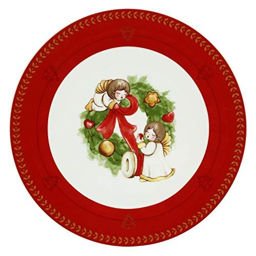 THUN ® - Piatto Dolce Natale Multiuso Grande con Angeli