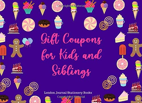 Gift Coupons for Kids and Siblings: Couponing (60 Fun Color Vouchers) Gifts for Children
